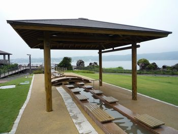 「桜島」溶岩なぎさ公園の足湯