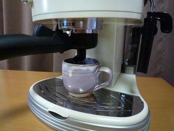 フィルターとカップの湯煎