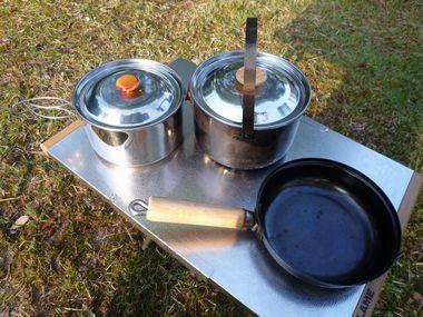 snow peakの鍋とフライパン