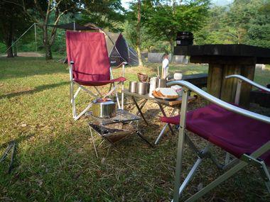 鯛生金山キャンプ朝食