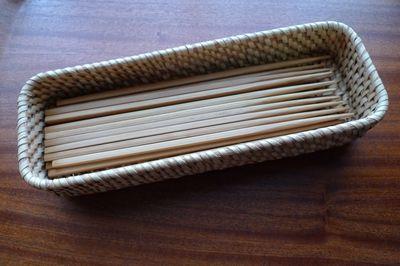 無印良品の竹箸&ラタンカトラリーボックススタッカブル