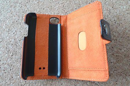 iPod touch用フラップタイプレザージャケット