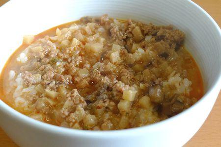 ごはんにかける 胡麻味噌担々スープ