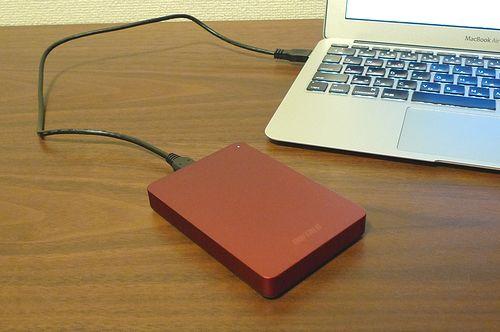 BUFFALOのポータブルHDD HD-PNFU3/N買いました!